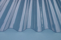 2.4 Corrugated Clear PVC Roofing Sheet 2.4 x 0.6 Metre (8 x 2ft)