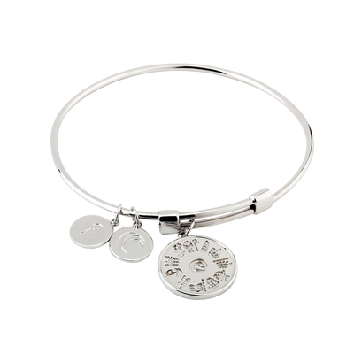 S/S HOI 3 DISC CHARM BANGLE(BOXED)