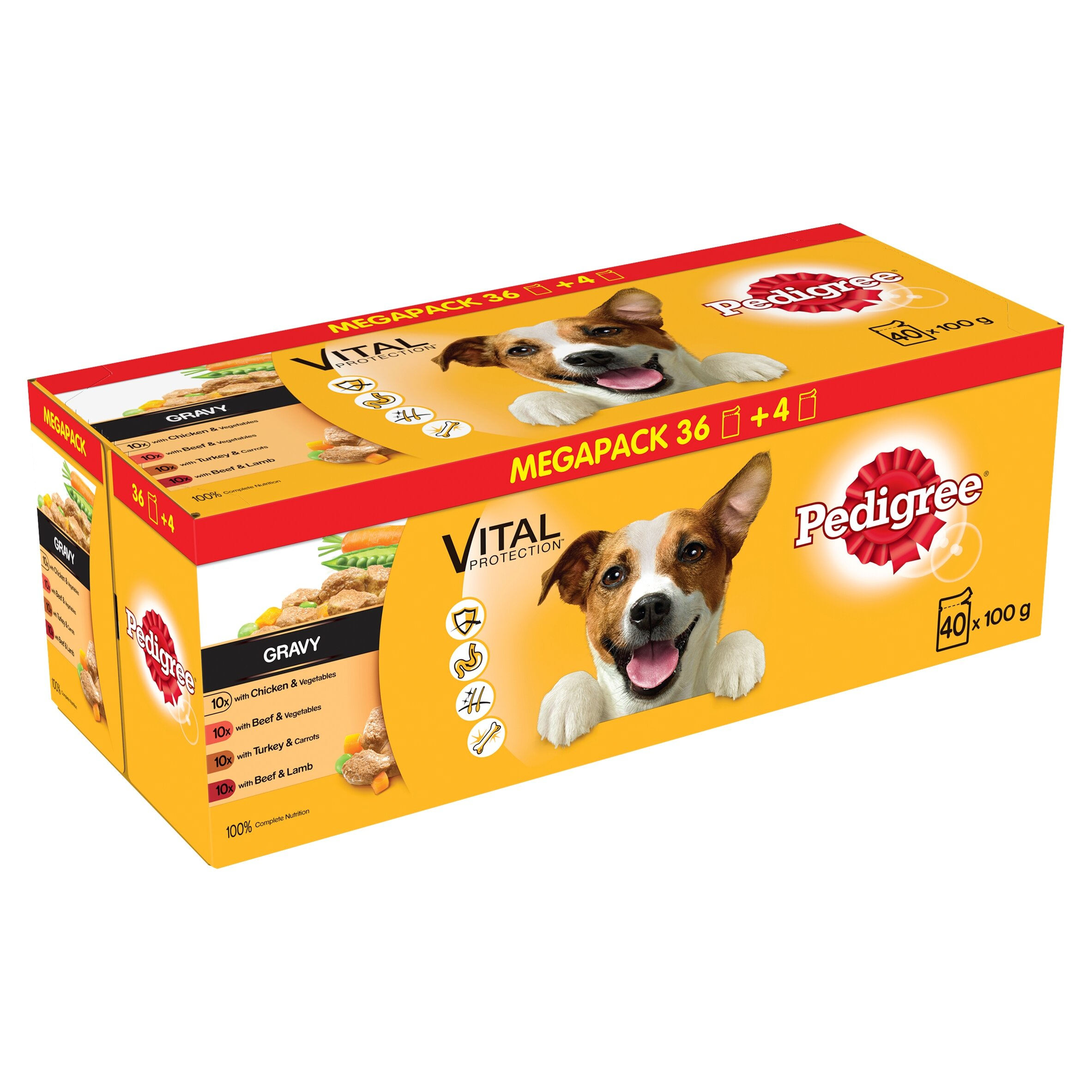 Pedigree Dog Pouch Mixed Selection in Gravy 100g x 40 for 36pk