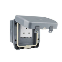 Schneider 13A 1 Gang Unswitched Socket IP66