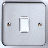 10A 1 Gang 2 Way Metal Clad Switch