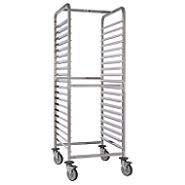 Trolley Racking Stainless Steel 10 Rack GN2/1 With Brakes