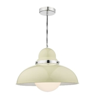 Dynamo 1 Light Large Pendant, Cream | LV1802.0062