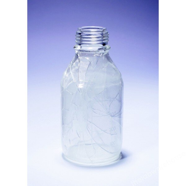 Reagent Bottle Pyrex Safecoated W/Mouth