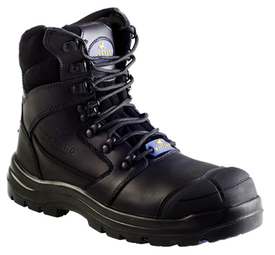Mustang Think Big 7110 Nitrile Sole 300°C Lace Up Safety Boot with Scuff Cap Black