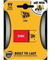 JCB Zinc 9 Volt Battery Single