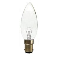 Solus 40 W SBC Clear Plain Candle