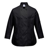 Portwest Rachel Chef Jacket Black