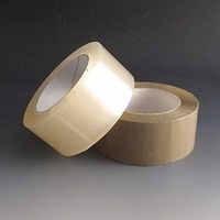 Clear adhesive packing tape.