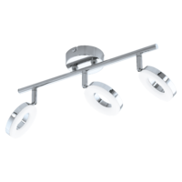 EGLO Gonaro Polished Chrome Triple Spot Wall Light LED 3x3.8w | LV1902.0042