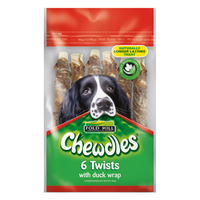 Chewdles Twists with Duck Wrap 6pk x 1