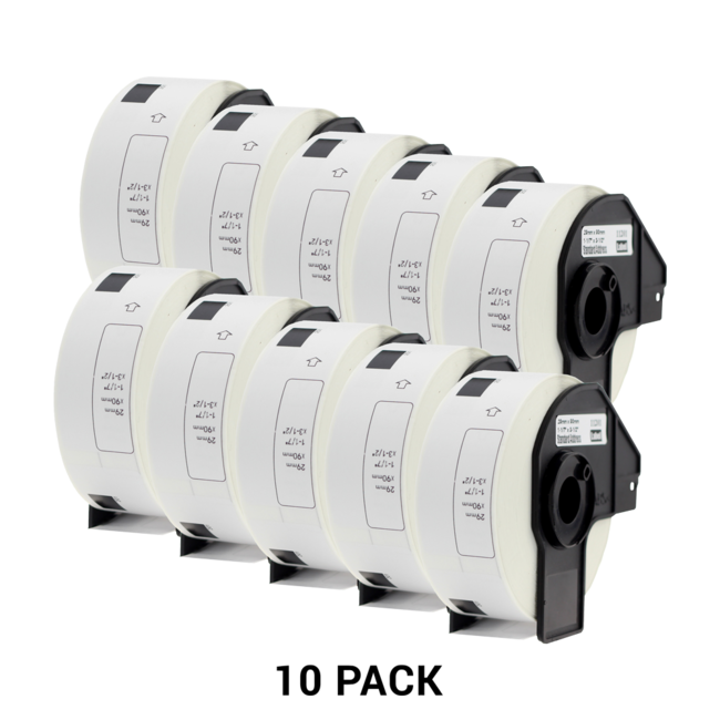 compatible brother dk11201 white address labels 29mm x 90mm 400pcs