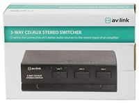 3-Way CD/AUX Stereo Switcher