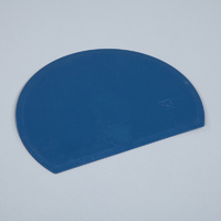 Detectable, round, flexible bowl scraper