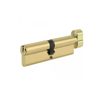 Profile Cylinder Brass 45/55 with a thumb on 45 side