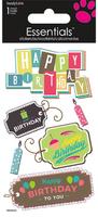 Birthday Tags Essential Craft Sticker.