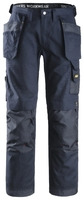 Snickers 3214 Craftsmen Holster Pocket Trousers, Canvas+ Navy