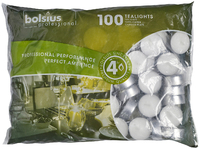 Tealights 4 Hour Burn Time. Pack of 100