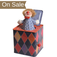 Traditional Clown themed Jack in the Box