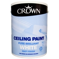 CROWN CEILING PAINT BRILLIANT WHITE 5 LTR