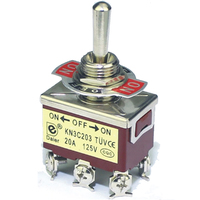 Switch| Toggle Switch 3Pins SPDT ON-ON 20A 125VAC