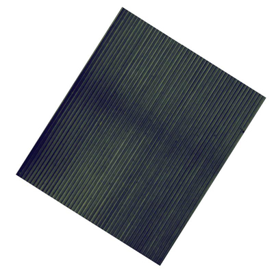 Rubber Mat Ribbed Black 762mm x 400mm