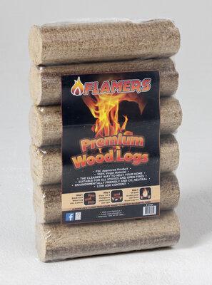 Flamers Premium Woodlogs Six Pack