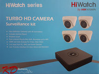 HiWatch Turbo 1080p 4 Channel 4 Camera KIT