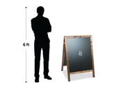 Wooden A1 Chalkboard