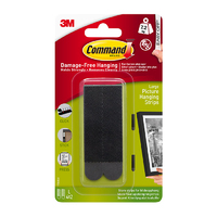 Command Large Picture Strips Black 4pk - 17206BLK