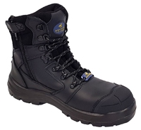 Mustang 7110Z Nitrile Sole 300°C Lace Up Zip Safety Boot with Scuff Cap