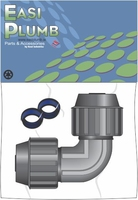 """Easi Plumb 1/2"""" Poly Gripmax Elbow Connector for NG & HG LDPE Pipe"""