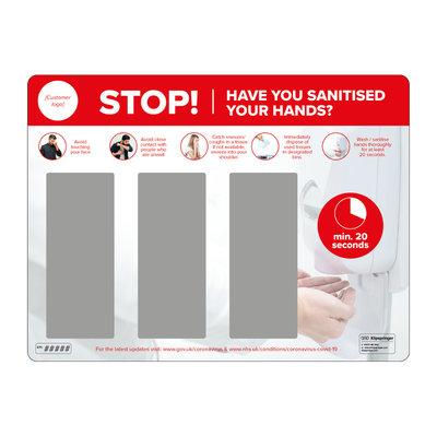 Wall mounted hand sanitiser station - triple dispenser