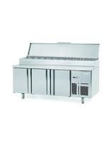 Pizza/Salad Prep Counter 3 Door S/S 1958x600x1050