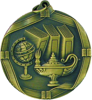 60mm Antique Gold Knowledge Medal