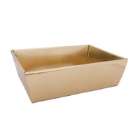 BOX TRAY 290X210X90CM GOLD METALLIC