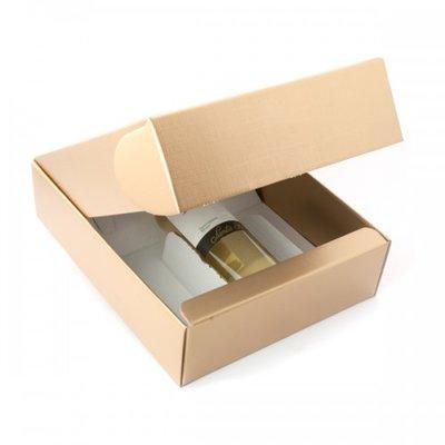 BOX GIFT/WINE 3B 340X280X90 GOLD