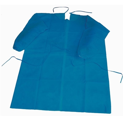 Gown Protection L Sleeves/cuffs non sterile Blue
