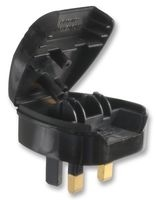 Amiko 3 Pin Adapter for converting 2 Pin European to UK Plug