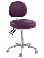 TRONWIND - MICROFIBRE LEATHER BLACK DOCTOR'S STOOL