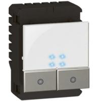 Arteor Switch (2x1000W) Square - White  | LV0501.2634