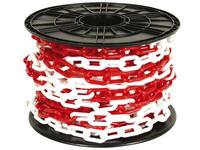 PREMIER 30 MTR 6 X 50MM RED & WHITE PLASTIC CHAIN