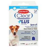 Bob Martin Flea-Clear PLUS Spot-On Small Dog Flea Drops 1 Tube x 1