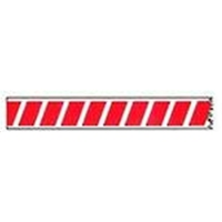 Barrier Tape Stripe White/Red 75mm x 250m