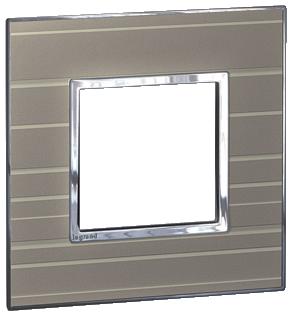Arteor (British Standard) Plate 2 Module 1 Gang Square Formal   LV0501.0189