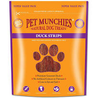 Pet Munchies Dog Treats - Duck Strips 320g x 3