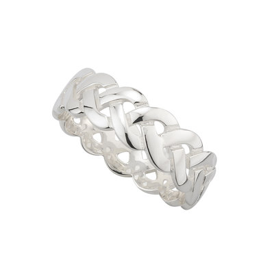 sterling silver celtic knot band ring for him s2996 from Solvar