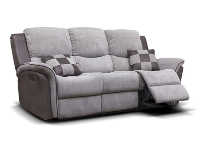 Roberto Grey Fabric Sofa 1