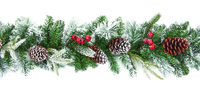 1.8M Flocked Garland With Berries and Cones