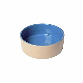 "Lazy Bones Ceramic Bowl 7.5"" - Beige & Blue x 6"